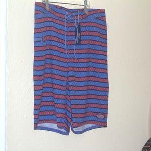 Men's Vineyard Vines Angler Stripe Board Shorts 42